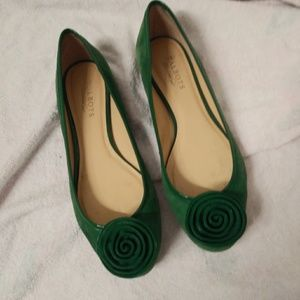 Talbots suede leather flats